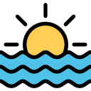 Beach & Ocean Sunset Wallpaper Custom New Tab