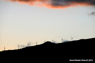 Photo: gotta get at least one sunset shot of the wind farm...