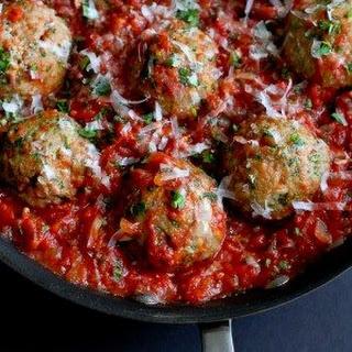 Italian Turkey Meatballs in Tomato Sauce.