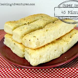 Super Soft 45 Minute Breadsticks