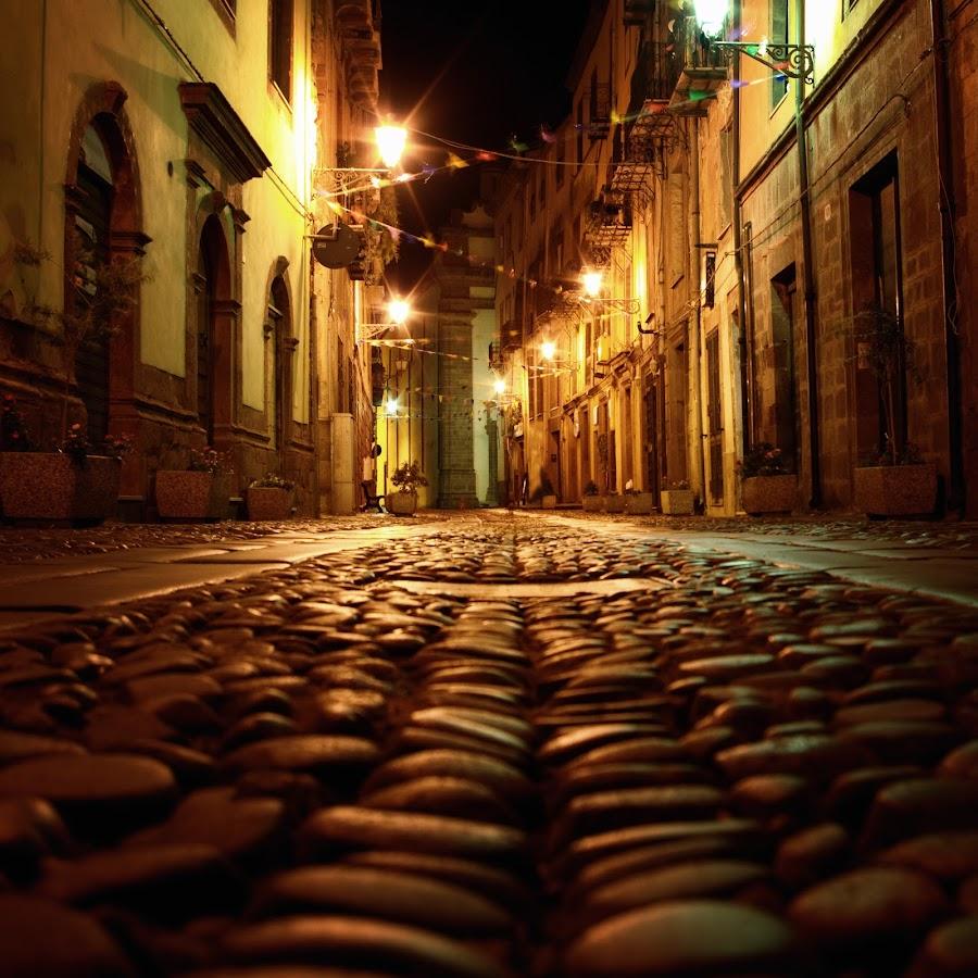 Bosa by Mario Sanna - City,  Street & Park  Street Scenes ( notte, sardegna, bosa, night )