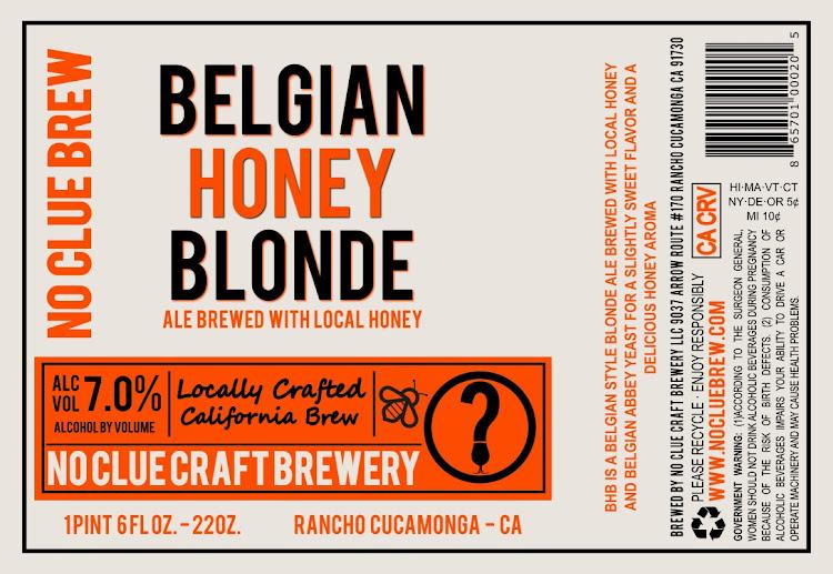 Logo of No Clue Belgian Honey Blonde Ale