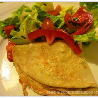 Italian Pancakes Stuffed With Mozzarella.