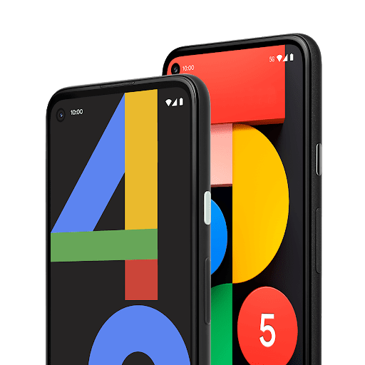 Google Pixel 4a (5G) and Google Pixel 5, side by side