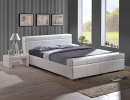 Contemporary design Faux Leather bed