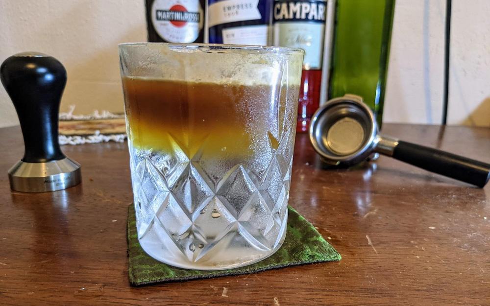 A prepared espresso tonic