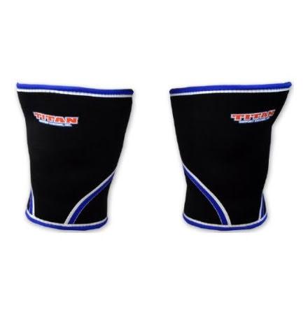 TITAN knee support 7mm - OBS ! Svarta med röd bård