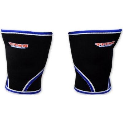 TITAN knee support 7mm (IPF approved) Svarta med röd bård