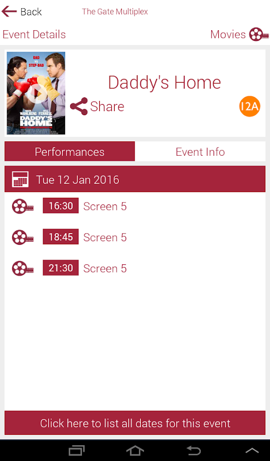 Gate Cinemas- screenshot