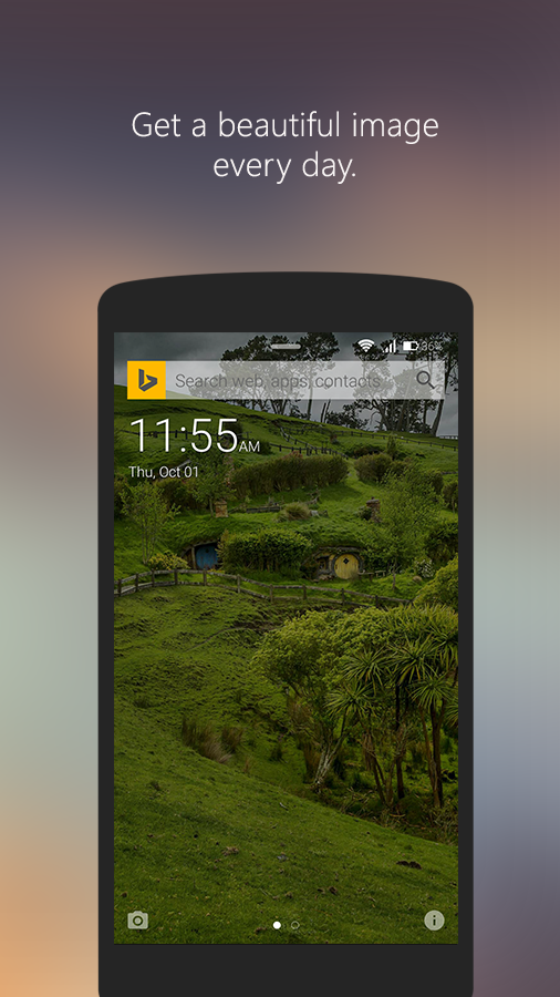 Picturesque Lock Screen- screenshot