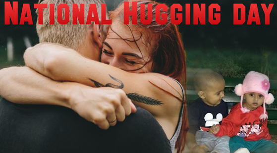 National Hugging Day Photo Frame - náhled