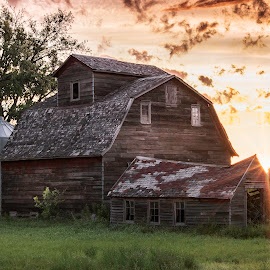 MORNING ON THE FARM by Dana Johnson - Buildings & Architecture Other Exteriors ( sunrise, barn, farm, building, architecture, morning )