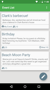 WeekOut - Event planner screenshot 1