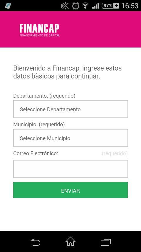 FINANCAP: captura de pantalla