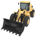 Bulldozer Driving 3D icon