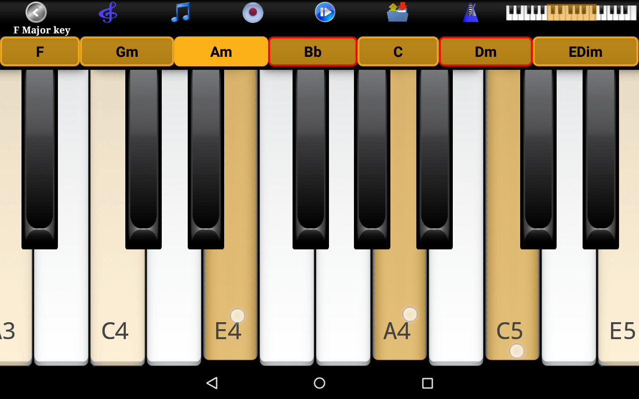 Piano scales chords pro android apps on google play piano scales chords pro screenshot hexwebz Gallery