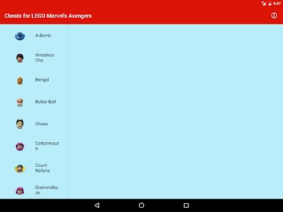 Cheats: LEGO Marvel's Avengers - Apps on Google Play