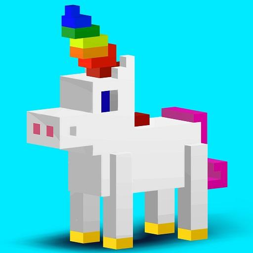 3D Color by Number: Voxel, Unicorn, Pixel Art 3D file APK for Gaming PC/PS3/PS4 Smart TV