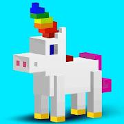 3D Color by Number: Voxel, Unicorn, Pixel Art 3D