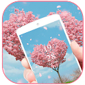 Pink Heart Love Flower Theme icon
