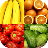 Fruit and Berries, Nuts & Vegetables: Picture-Quiz