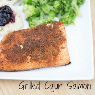 Grilled Cajun Salmon.