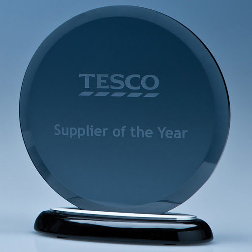 Circular Glass Awards for Engraving