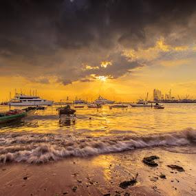 Triumph by Sherry Zhao - Landscapes Sunsets & Sunrises ( pwcsunbeams-dq )