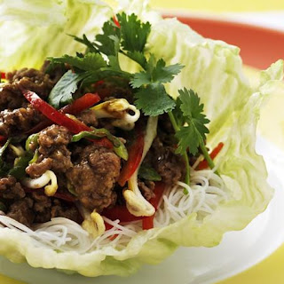 Stir Fried Pork in Lettuce Cups