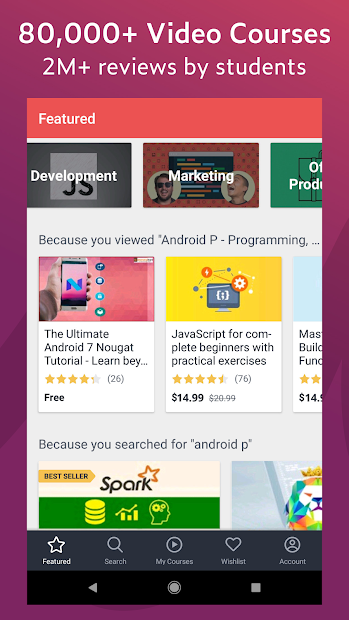 Udemy - Online Courses Android App Screenshot