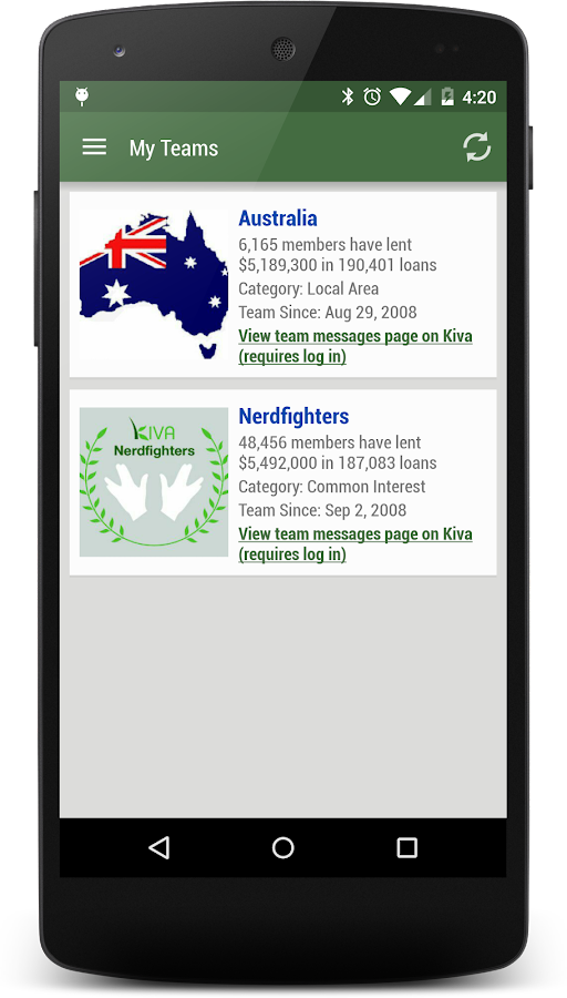 Kiva Search - screenshot