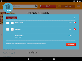 Screenshot of Lieferservice.de