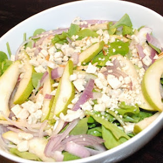Arugula Pear Salad Recipe with Blue Cheese
