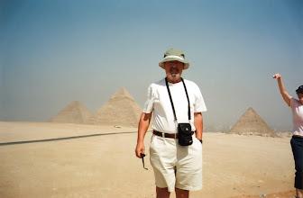 Photo: Amado Moreno, de turista en Egipto