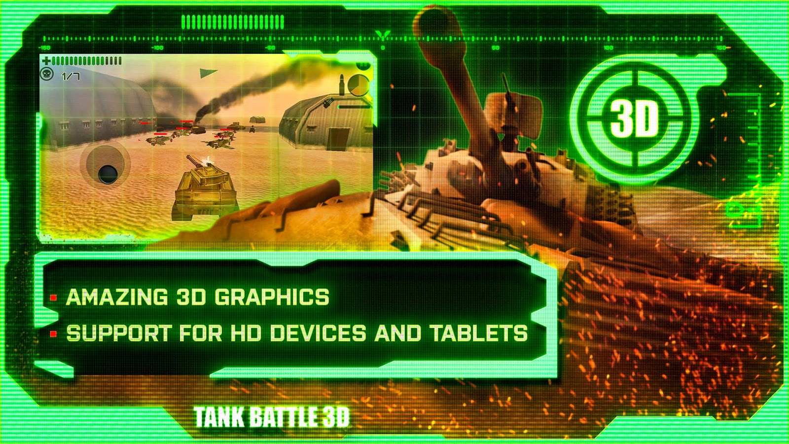 Tank Battle 3D: Desert Titans- screenshot