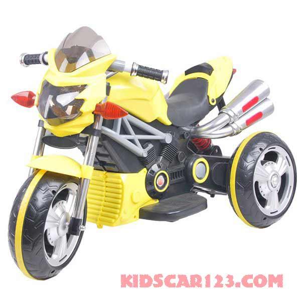 xe máy điện trẻ em 3212 màu vàng chanh