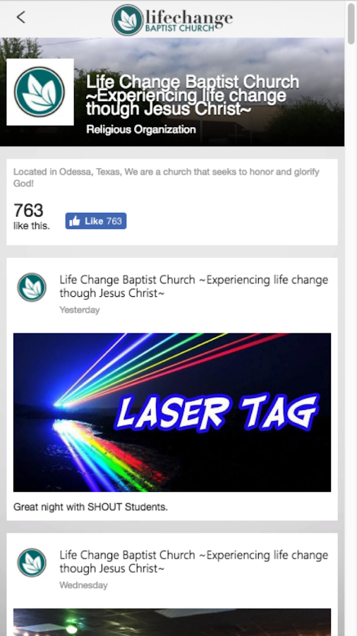 Lifechange Baptist- screenshot