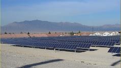 La instalación de energía solar fotovoltaica está en el pueblo serrano de Partaloa.