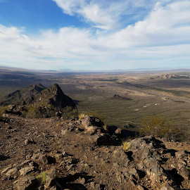 Looking Down on a Peak by Tom MostlyGerman - Landscapes Deserts