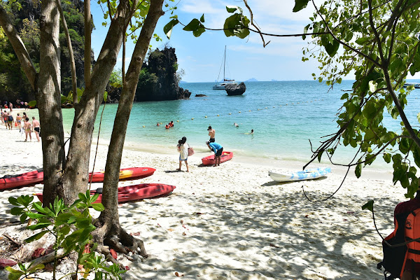 Beach time on Koh Hong with sunbathing and snorkeling