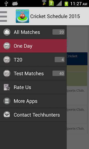 Cricket Schedule 2015