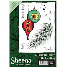 Sheena Douglass A6 Unmounted Rubber Stamp - Bauble Bling UTGÅENDE