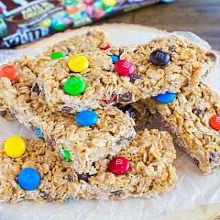 Chewy No Bake M&M's Granola Bars