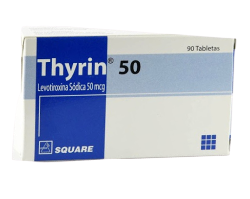 Levotiroxina Thyrin 50 mcg x 90 Tabletas