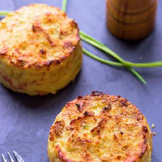 Oven Baked Mashed Potato Cakes.