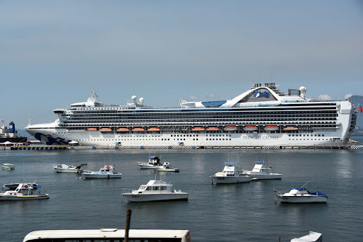 Grand Princess in Manzanillo.jpg - The Grand Princess in port in Puerto Vallarta. She's a beautiful ship with a great crew.