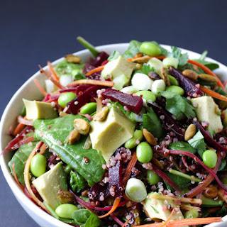 Beet, Avocado + Quinoa Salad with Herb Vinaigrette