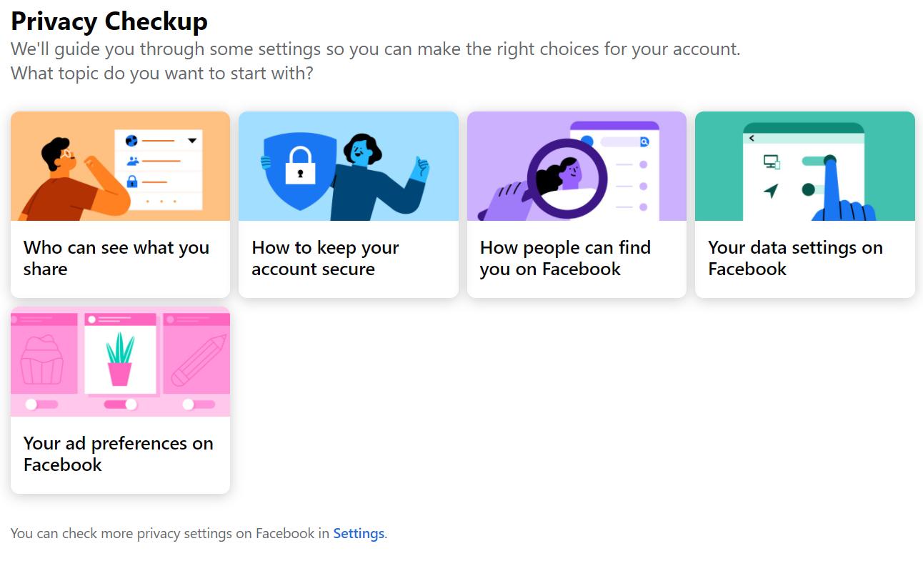 Facebook - Privacy Checkup