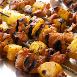 Thai Chicken Pineapple Kabobs with Coconut Rice