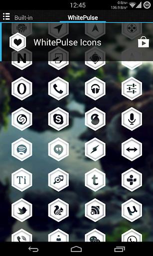 WhitePulse Icons (ADW/NOVA/GO) 1.1 screenshots 3
